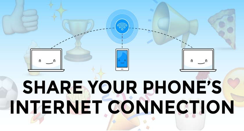 Share the Internet Connection of a Smartphone