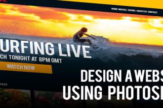 Design a website in Photoshop