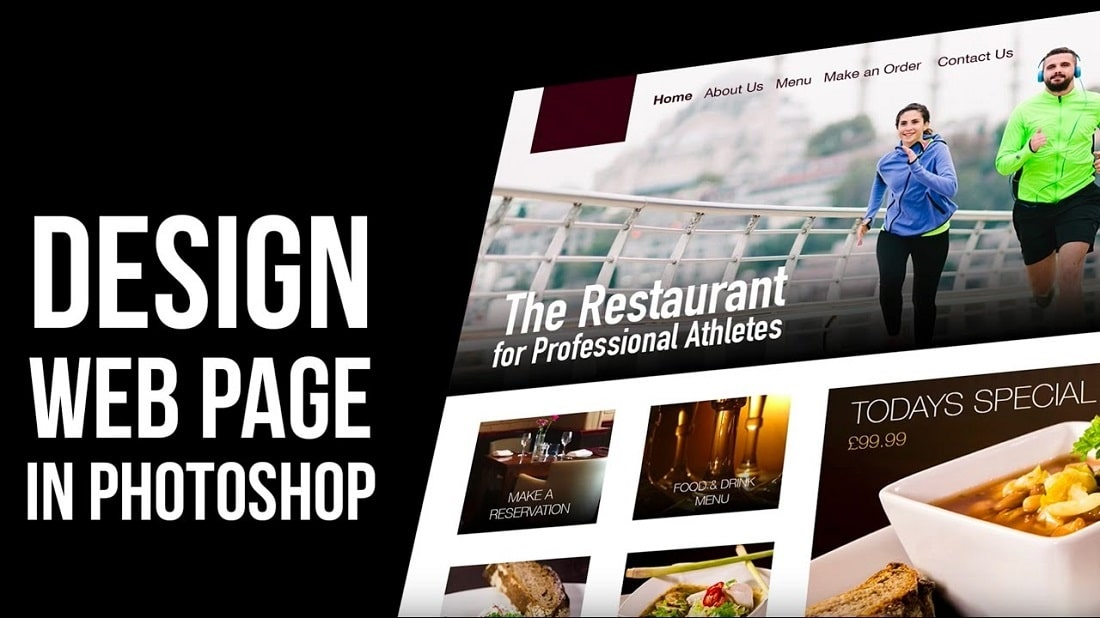 designing a website in photoshop