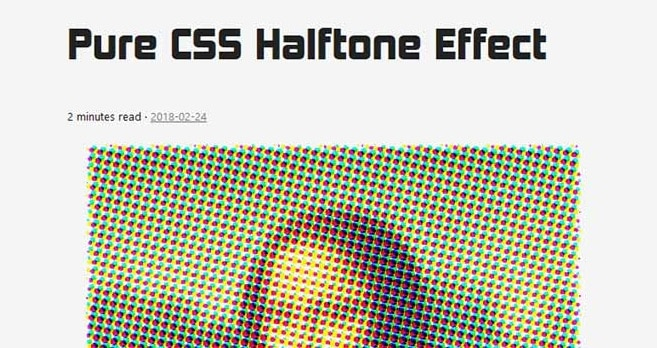Pure CSS Halftone Effect