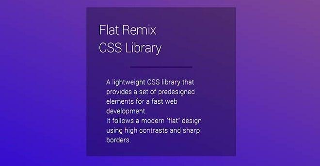 Flat Remix CSS Library