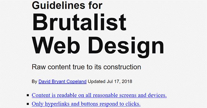 Guidelines for Brutalist Web Design