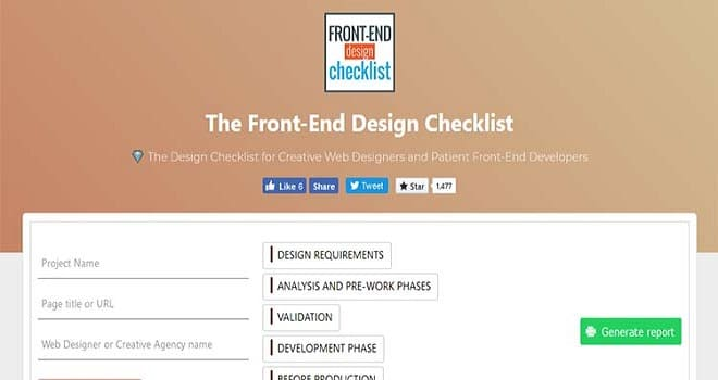 Front-End Design Checklist