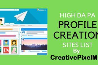 High DA PA Dofollow Profile Creation Sites List