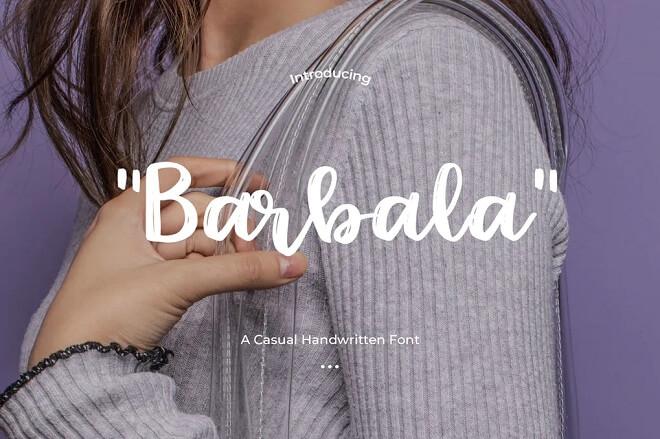 Barbala - Handwritten Font