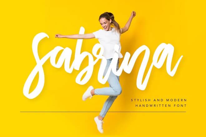 Sabrina Handwritten Font