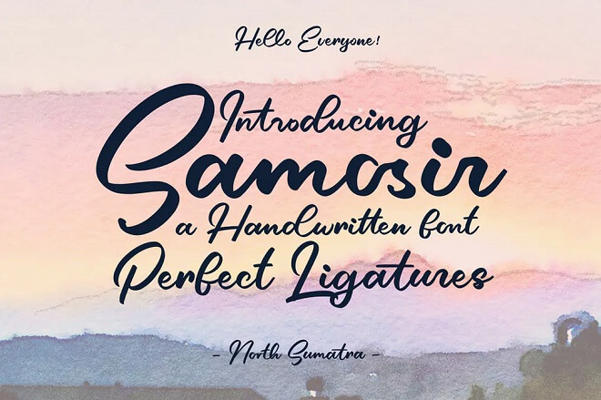Samosir - Handwritten Font