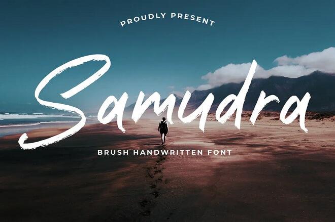 Samudra Brush Handwritten font