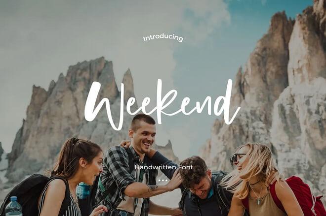 Weekend - Handwritten Font