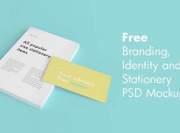 Free Branding Identity & Stationery PSD Mockups
